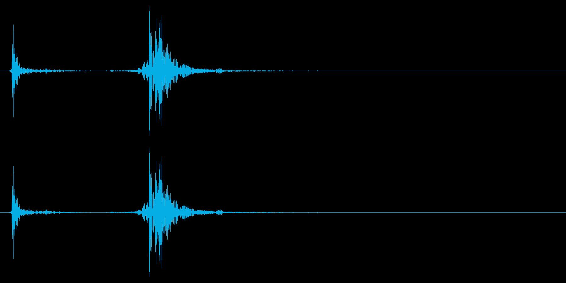 アタッシュケースの留め具を閉じる音_1の再生済みの波形