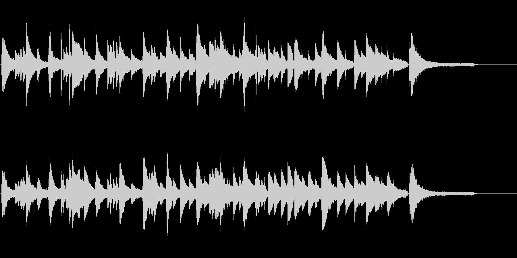 ピアノソロの40秒ジングルの未再生の波形