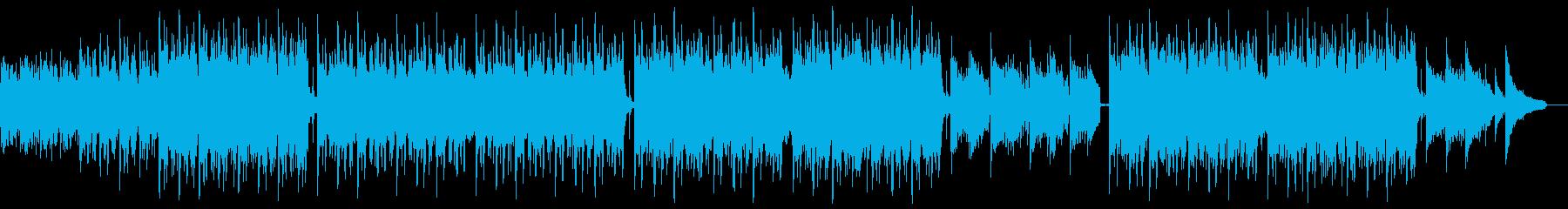 明るいピアノバイオリンポップ:メロディ抜の再生済みの波形