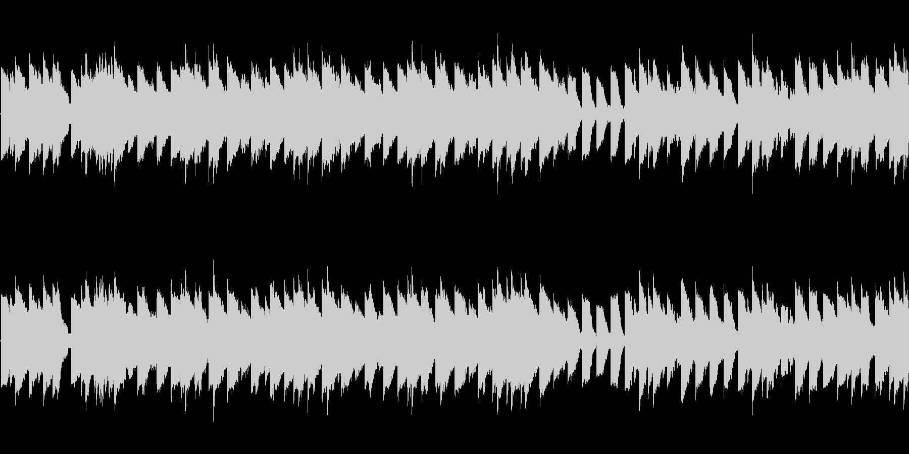 チップチューンのレトロゲーム調BGMの未再生の波形