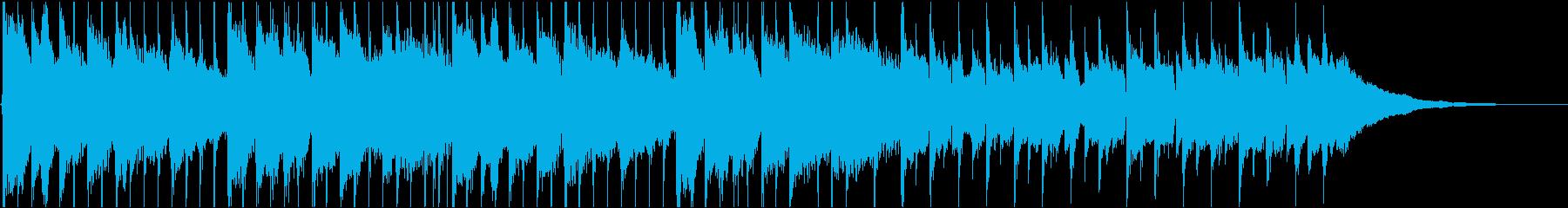 ハッピーで軽快な30秒CMの再生済みの波形