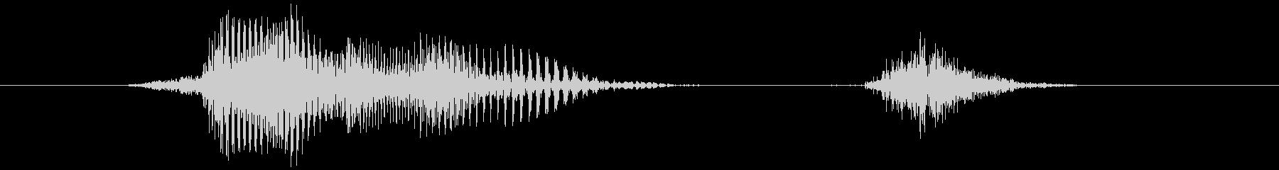 ファイトの未再生の波形