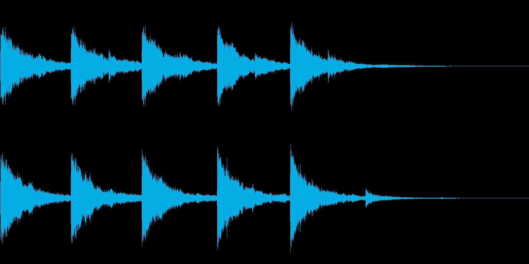 「海外のお化けが出そうな音」の再生済みの波形