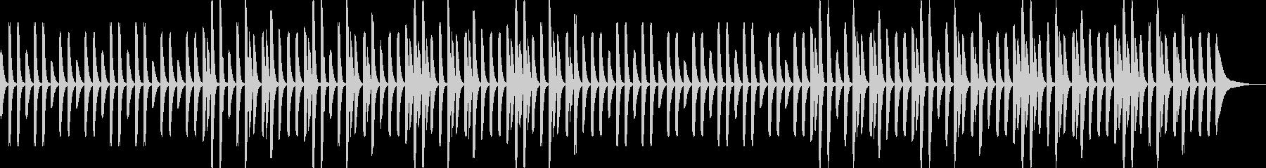 YouTube・奇妙・日常・ピアノソロの未再生の波形