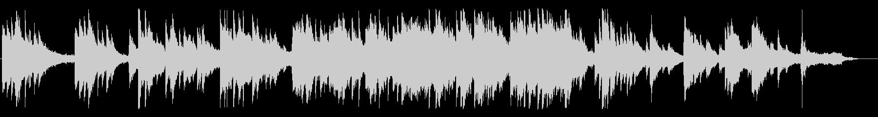 切なく、透き通るようなピアノBGMの未再生の波形