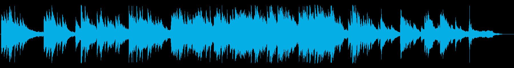 切なく、透き通るようなピアノBGMの再生済みの波形