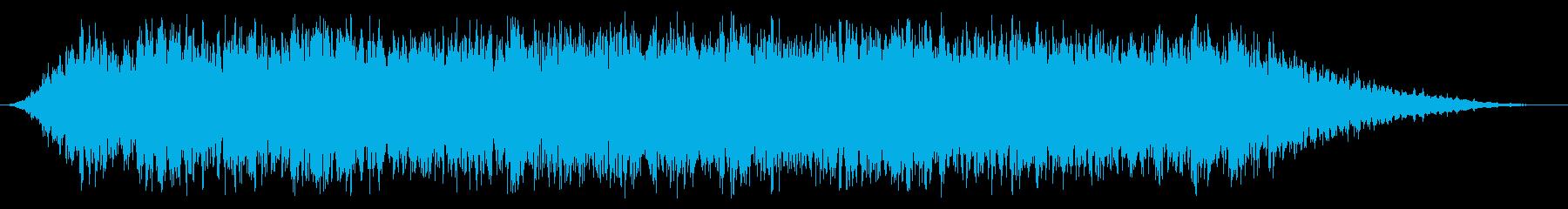 スローロアシンセライズの再生済みの波形