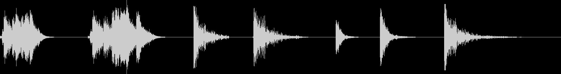 残響金属の影響X7の未再生の波形