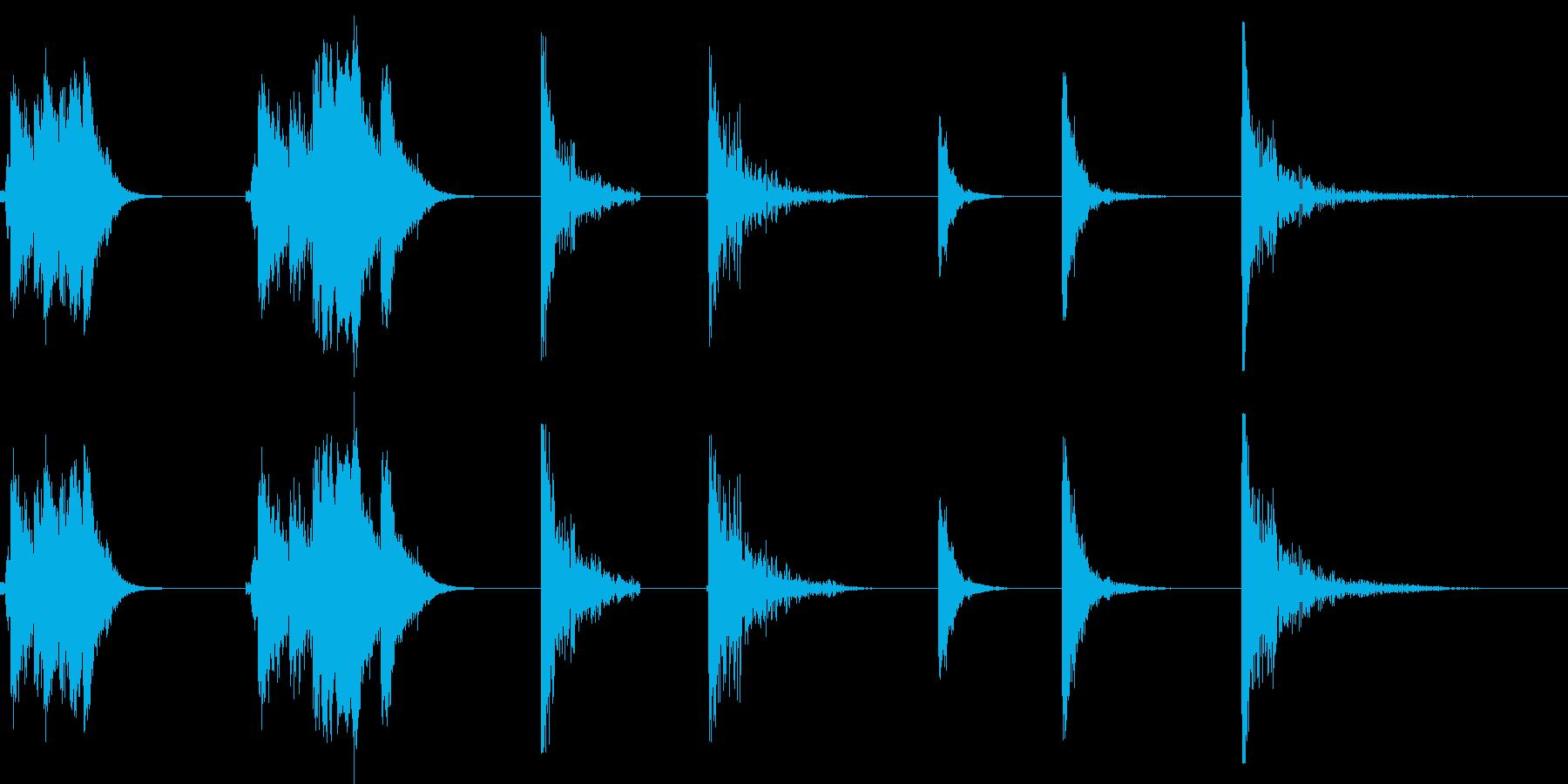 残響金属の影響X7の再生済みの波形