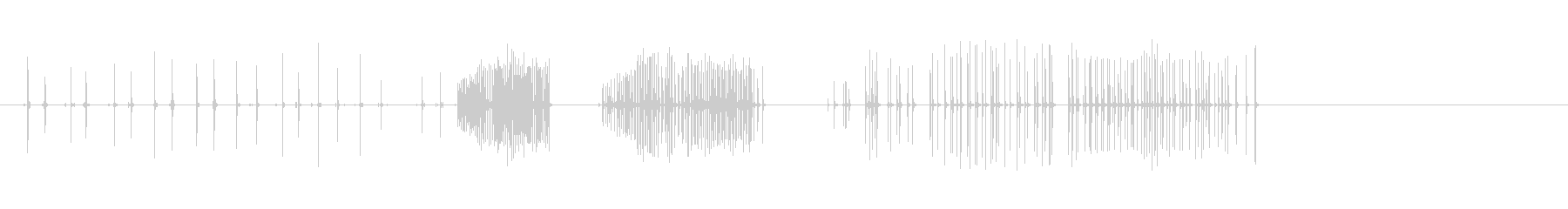 コーキングガンシーケンスの未再生の波形