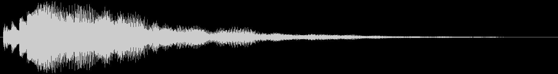 決定/ボタン押下音(深い響き)の未再生の波形