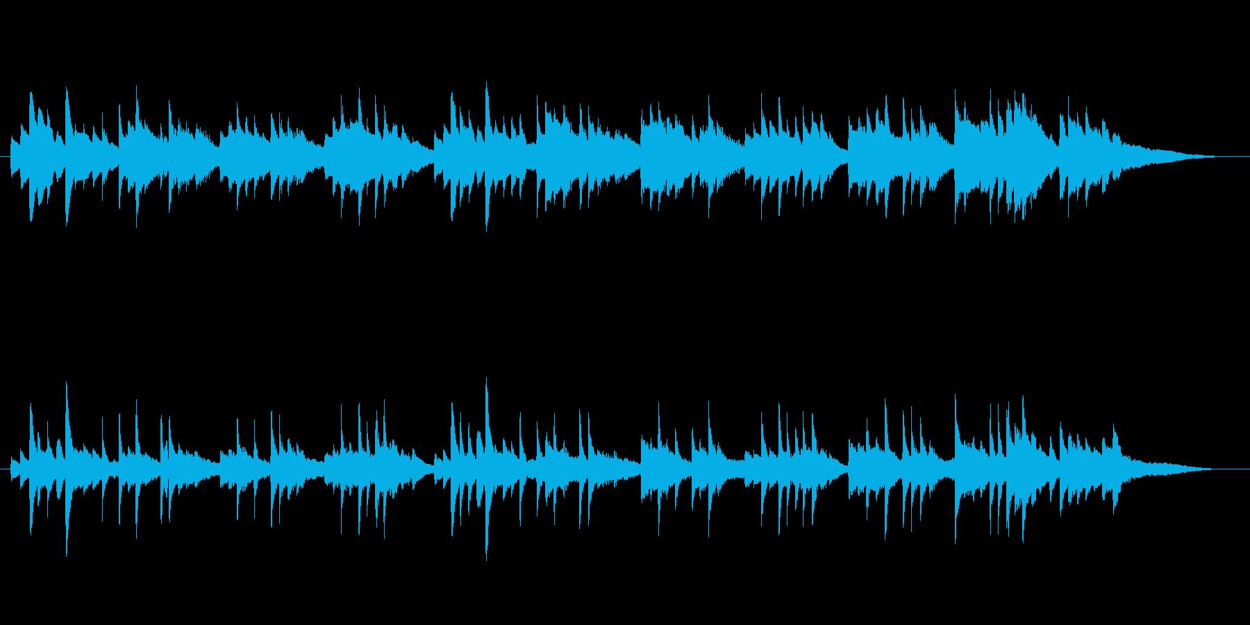爽やかな3拍子ピアノソロの再生済みの波形