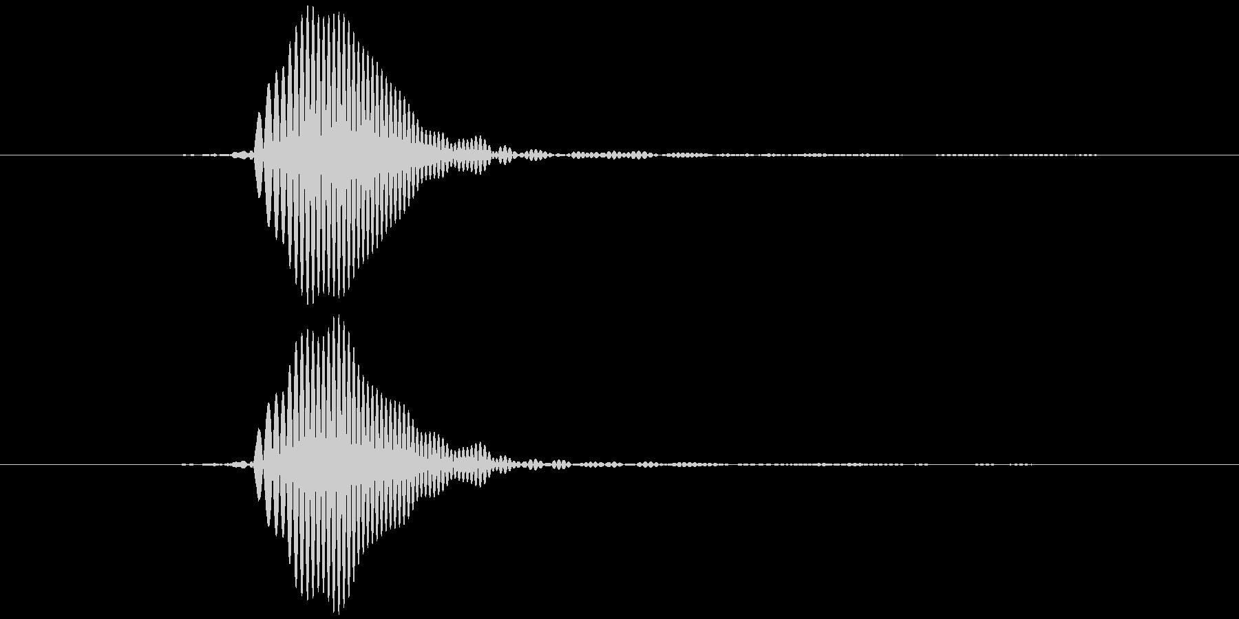 パッ (柔らかめ) テロップ音などの未再生の波形