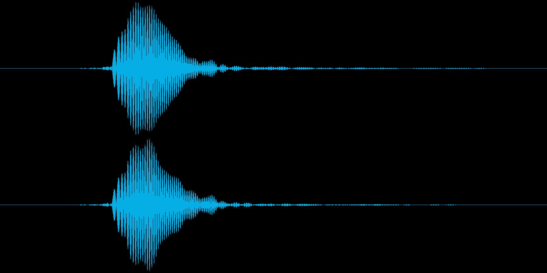 パッ (柔らかめ) テロップ音などの再生済みの波形
