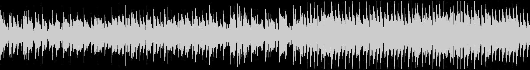明るいリコーダー、軽快なリズム※ループ版の未再生の波形