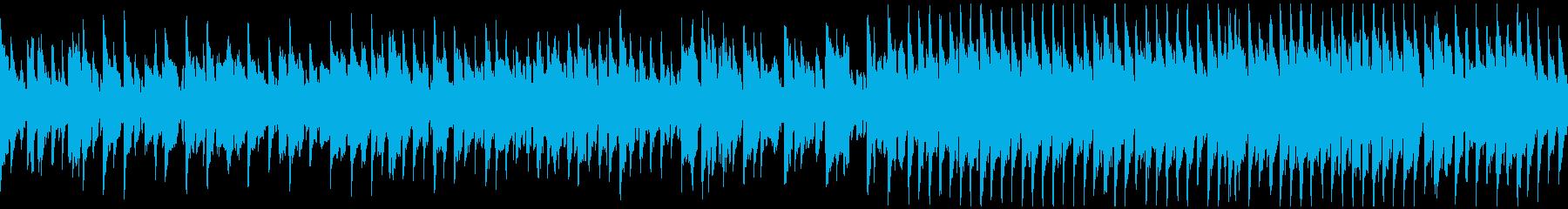 明るいリコーダー、軽快なリズム※ループ版の再生済みの波形