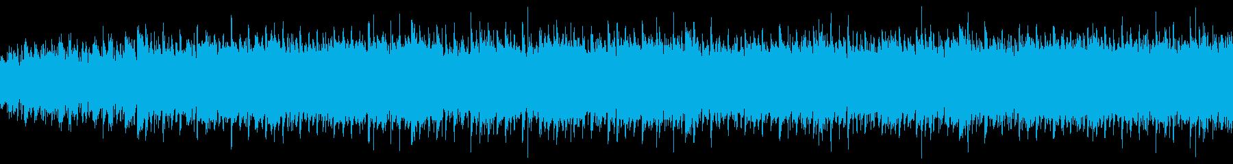 パワフルなYoutube映像用のブルースの再生済みの波形