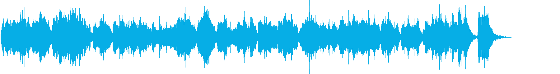 いかにも眠たそうな曲の再生済みの波形