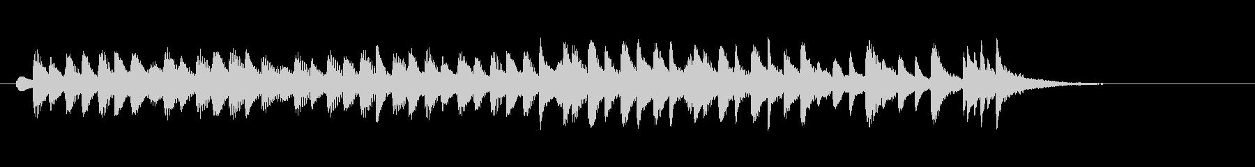 もっとコミカルに走り回る木琴(マリンバ)の未再生の波形
