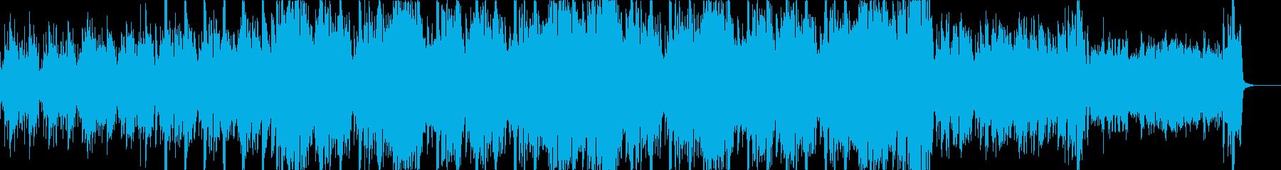 懐かしい感じのエレクトロディスコの再生済みの波形