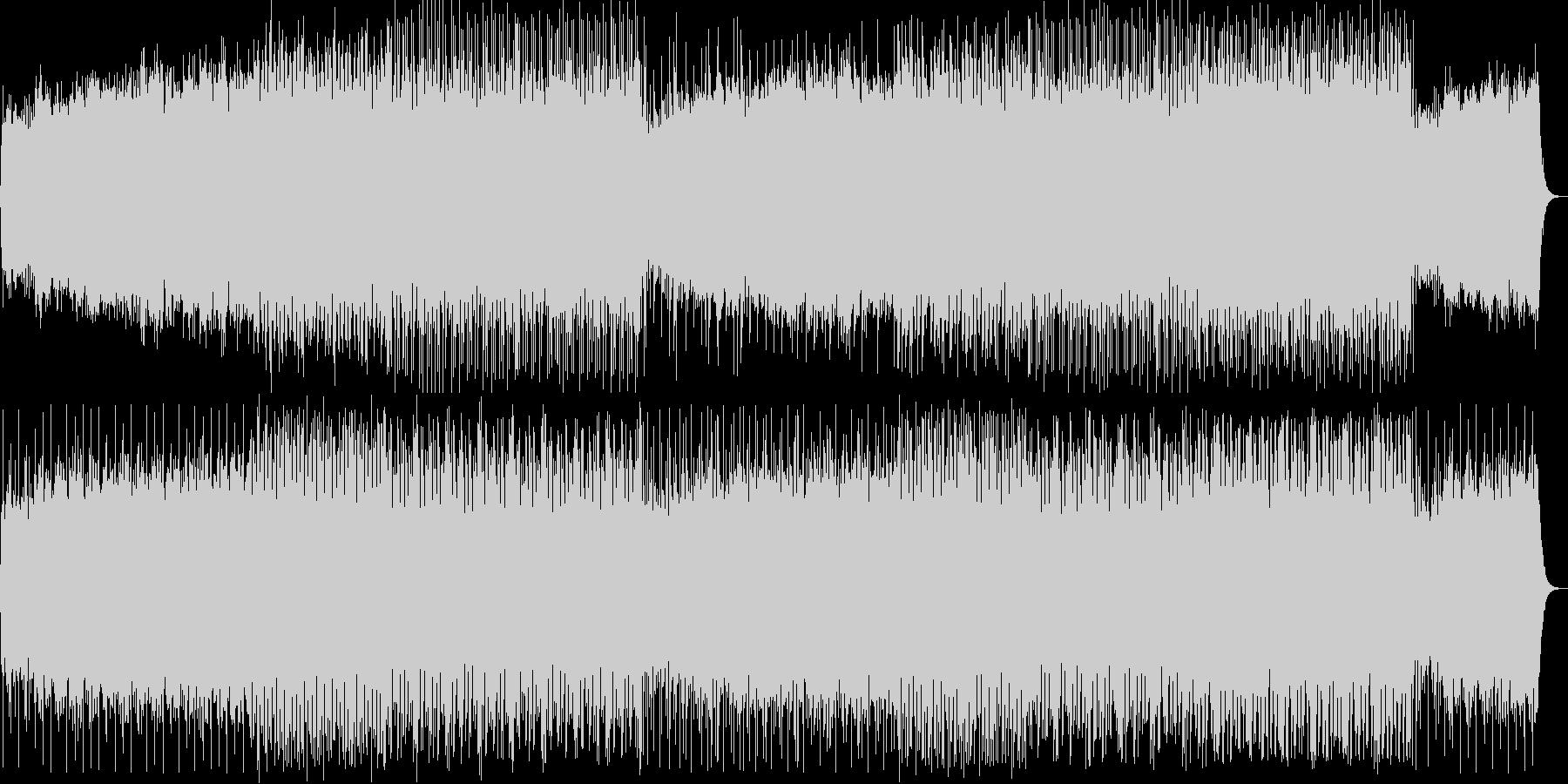 壮大な始まりの重厚なテクノ音の未再生の波形