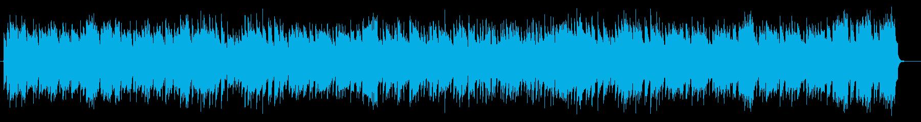 陽気な明るいジャズサウンドの再生済みの波形