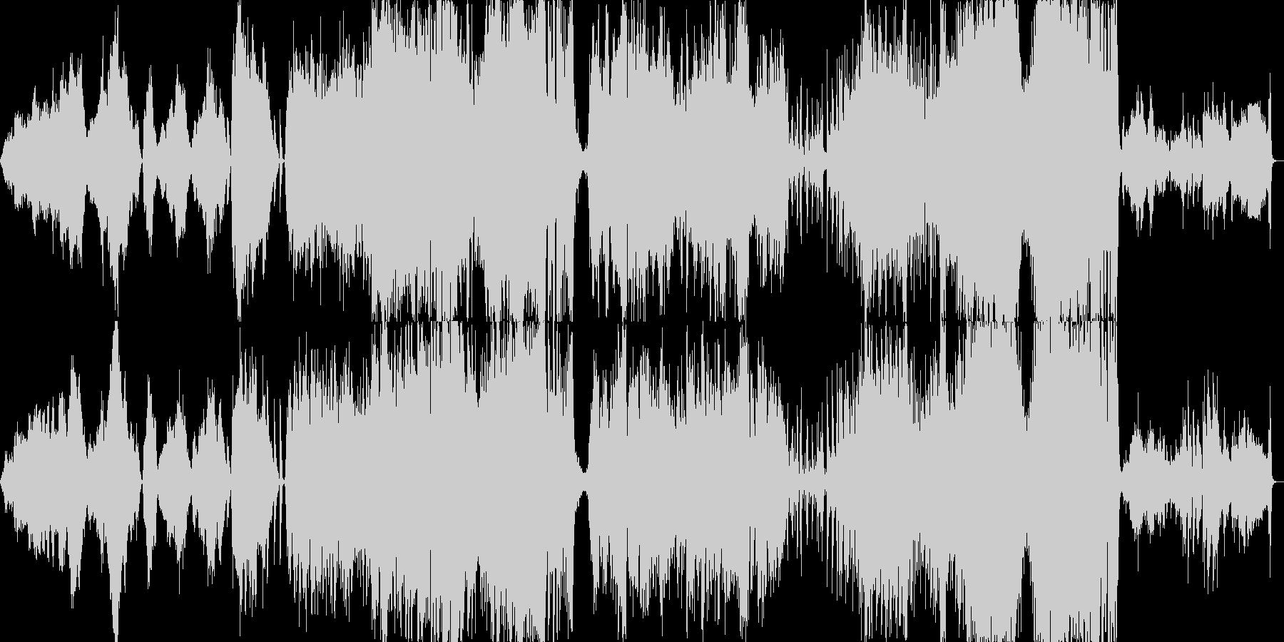 ミュージカルの組曲風の華やかさの未再生の波形