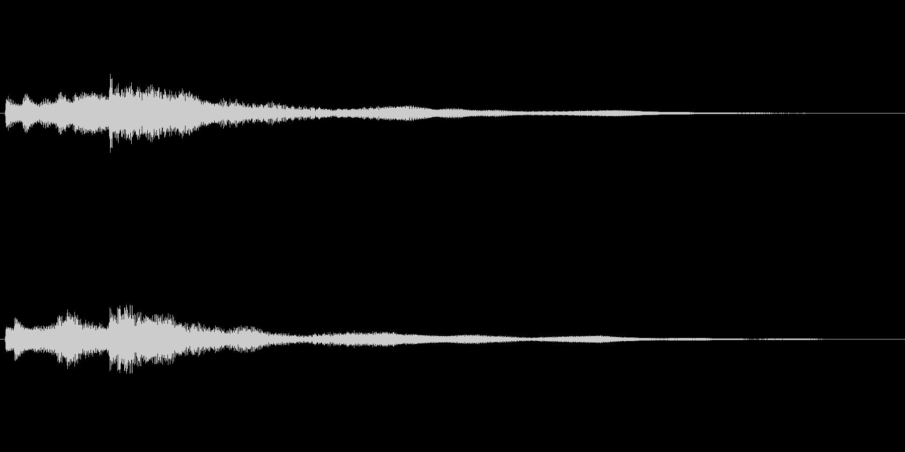 まろやかな音色のギターサウンドロゴの未再生の波形