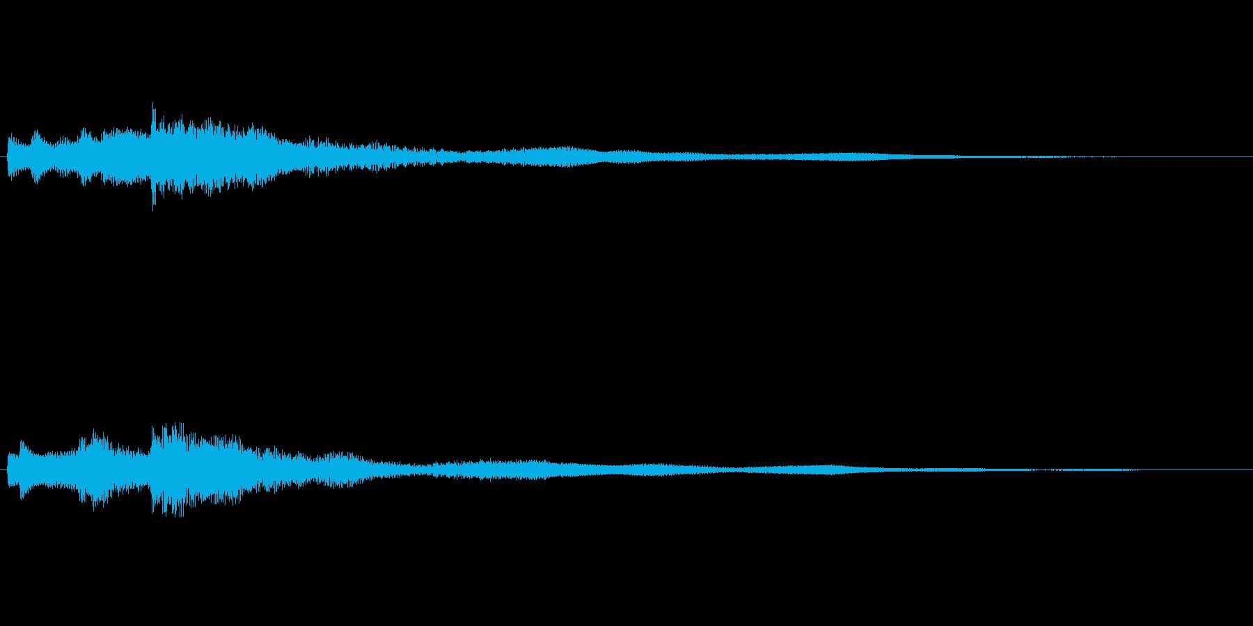まろやかな音色のギターサウンドロゴの再生済みの波形