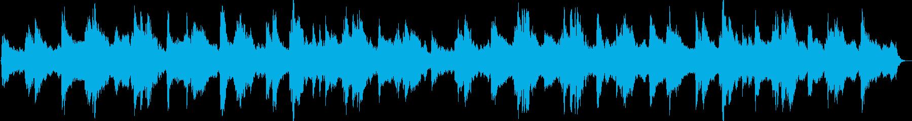 優しくも力強い感動的なピアノストリングスの再生済みの波形