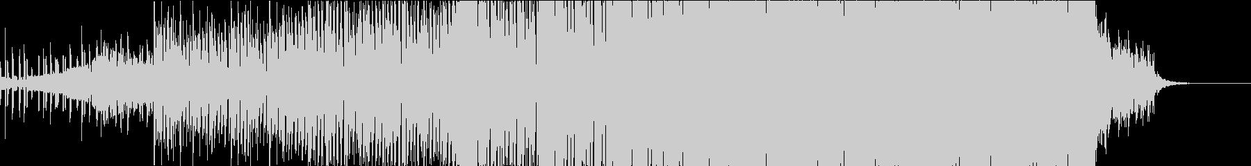 だんだんと盛り上がるEDM、荘厳、壮大の未再生の波形