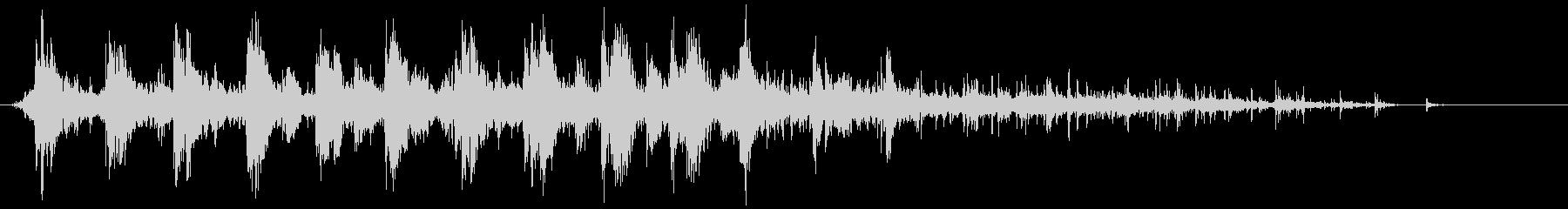 効果音 ドンドンパフパフ SEの未再生の波形