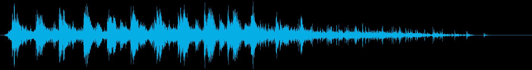 効果音 ドンドンパフパフ SEの再生済みの波形