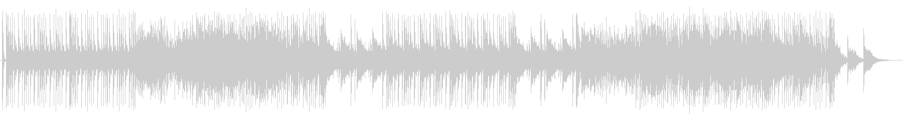 スローテンポのテクノサウンドの未再生の波形