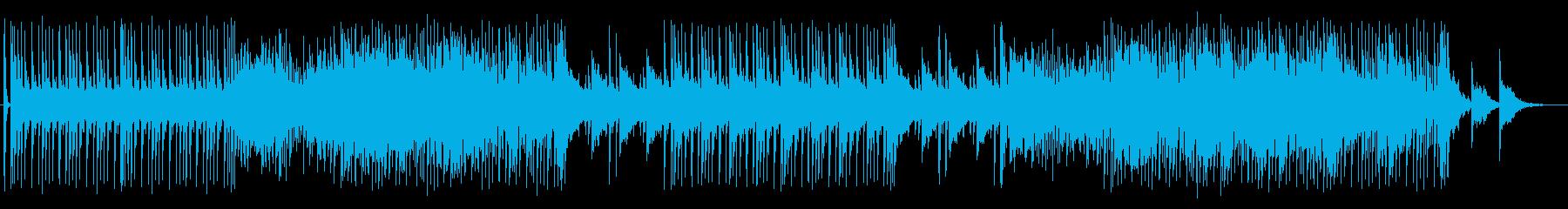 スローテンポのテクノサウンドの再生済みの波形