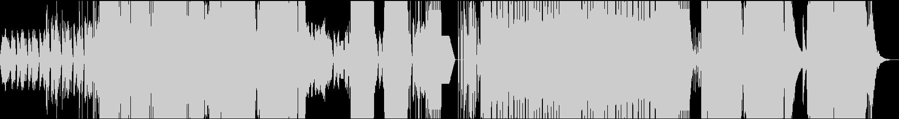 ベースとDJスクラッチによるダンスBGMの未再生の波形