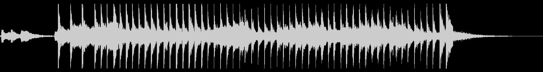 和楽器の共演の未再生の波形