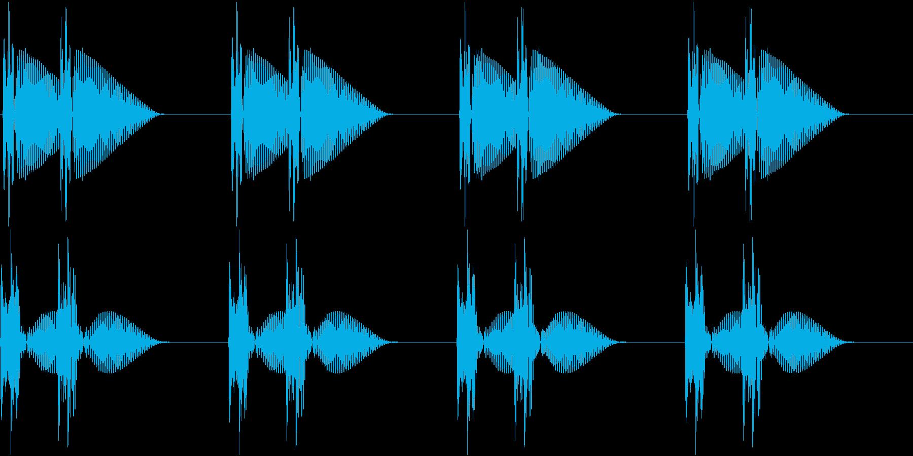 HeartBeat 心臓の音 3 ループの再生済みの波形