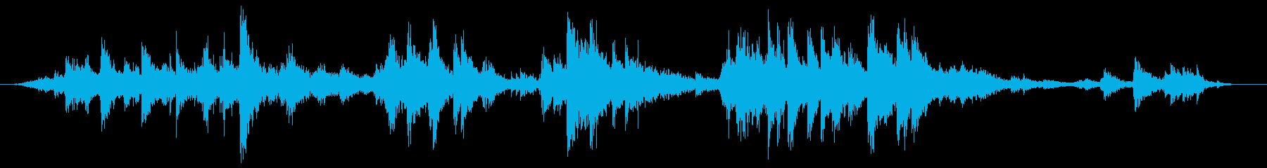 ガラガラ(賽銭箱上の鈴)の再生済みの波形