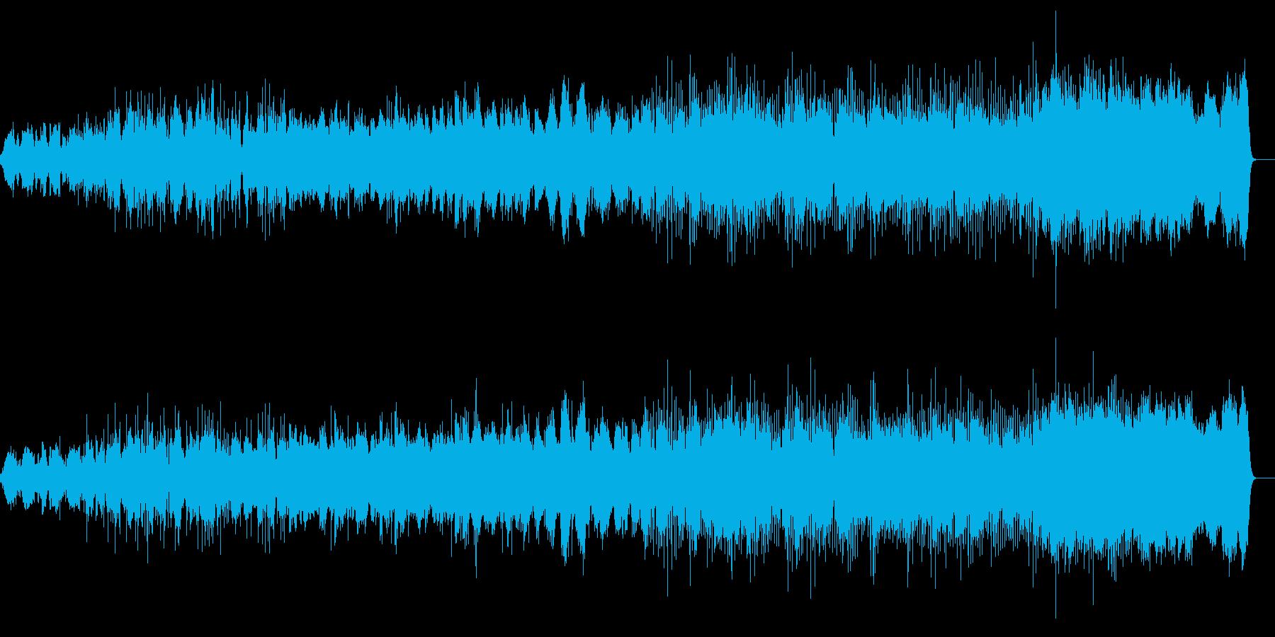 環境音、シンセ、フルート、ピアノ作品の再生済みの波形