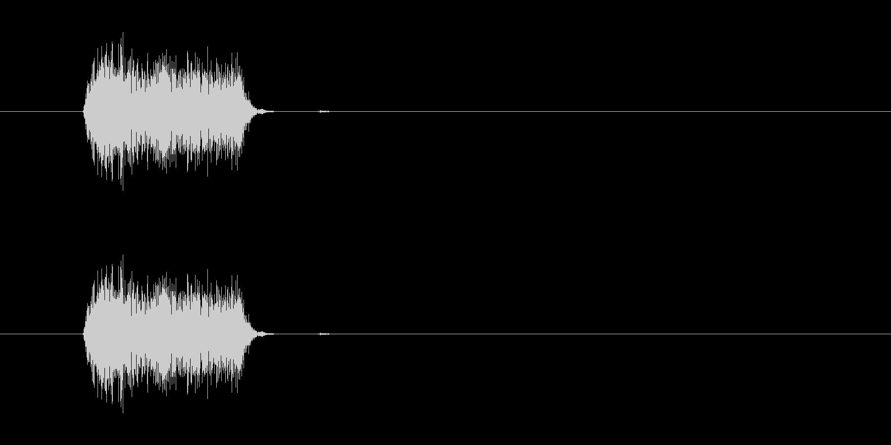 プシュッ(ファブリーズ的なものの音)の未再生の波形