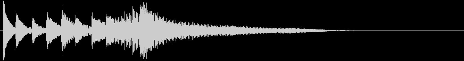 明るい雰囲気のピアノジングルロゴの未再生の波形