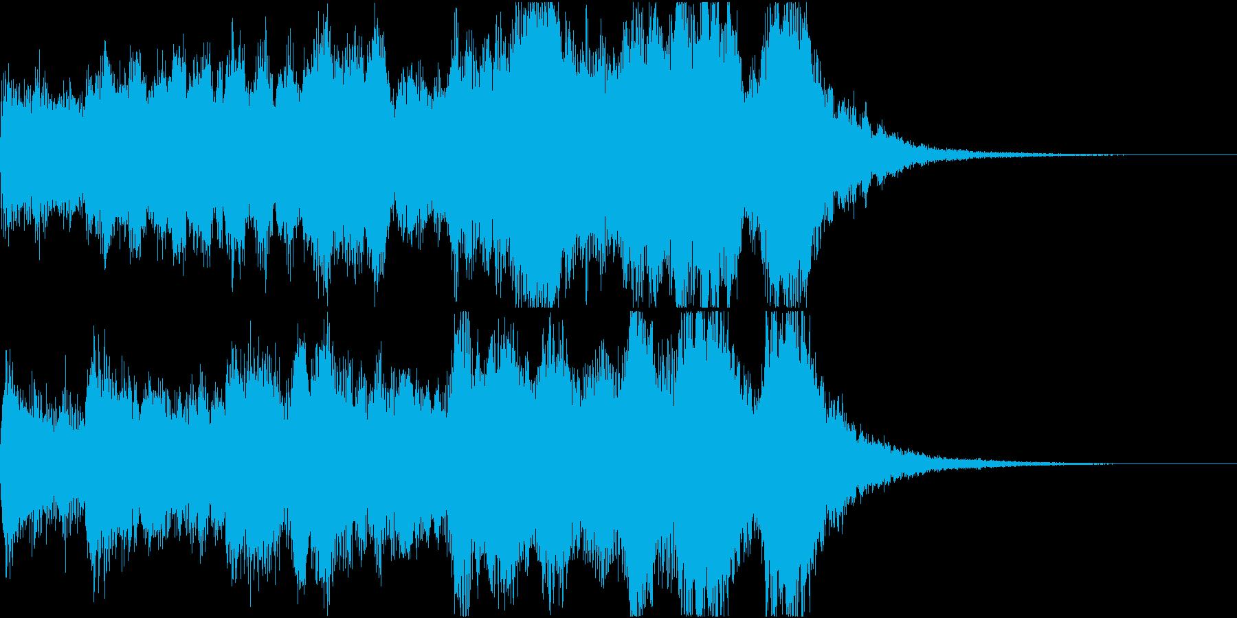 明るい始まりのオーケストラファンファーレの再生済みの波形