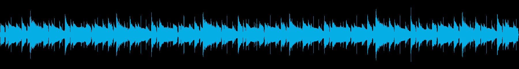 【52秒ループ】軽やかなボサノバハワイ曲の再生済みの波形