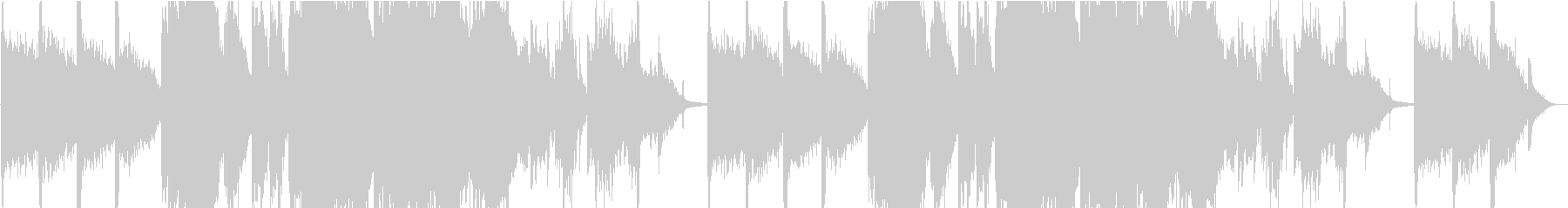 幻想的なピアノとコーラス曲の未再生の波形