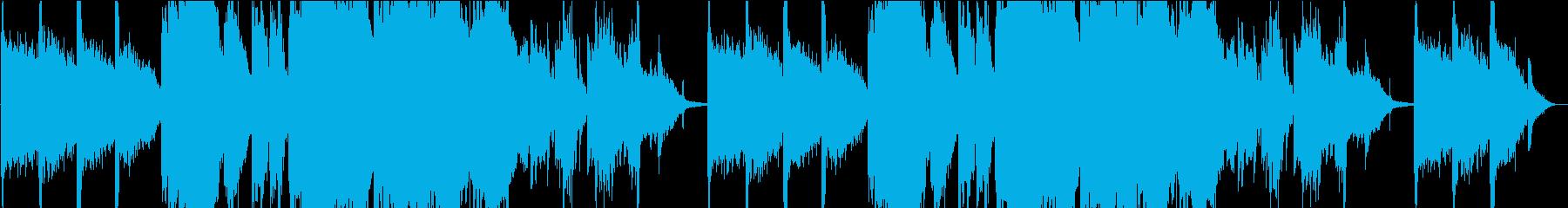 幻想的なピアノとコーラス曲の再生済みの波形