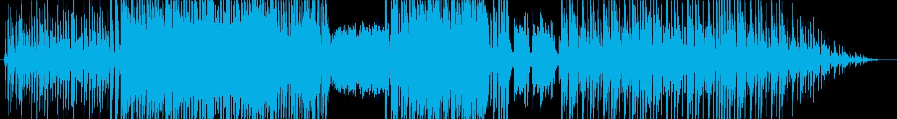 ピアノ、ベースが軽快に動くアップテンポ曲の再生済みの波形