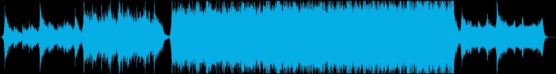威厳、風格のあるエピック系BGMの再生済みの波形