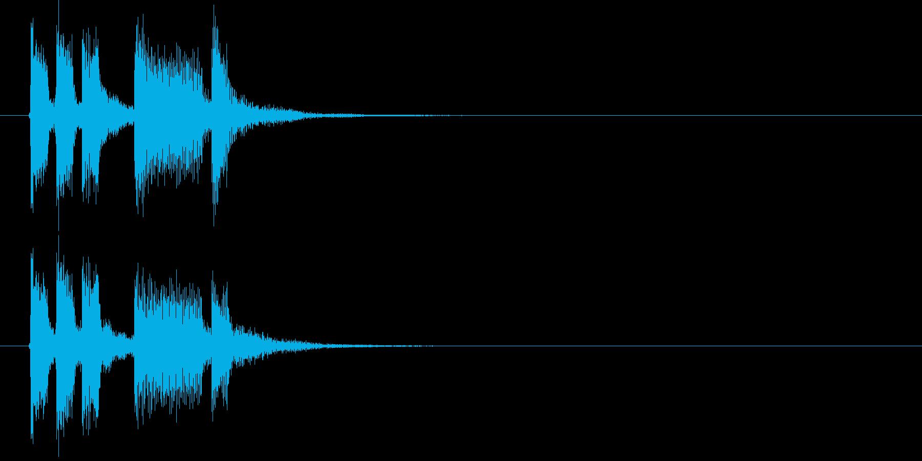 疾走感のあるアップテンポでキュートな音楽の再生済みの波形