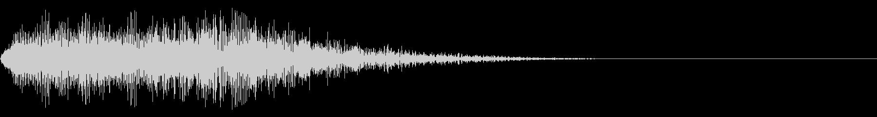 電気の流れる音(アニメ、SF映画)の未再生の波形